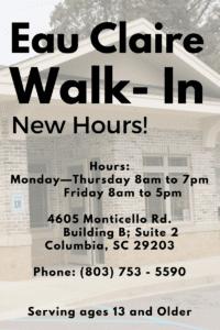 Walk In New Hours