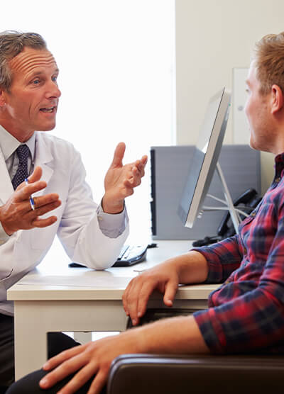 "<img src=""consult.jpg"" alt=""gi doctor and patient talking about hemorrhoids treatment options"" />"
